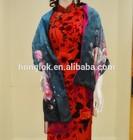 Honglok Fashion Layer silk with napping shawl women pashmina