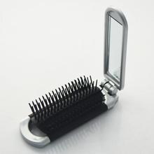 Mini convenient foldable brush with mirror