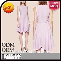 xxl size women casual dress fashion lovely pink short skater dress 2015