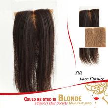 Discount Princess Hair Secrets Factory Brazilian Hair Natural Color Light Yaki Silk Base Top Closure
