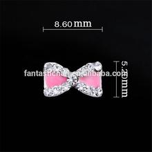 Super Cute Sweet Shining Jewel Bow Accessories Nail Decorator 3d Metal Nail Decoration Nail Art