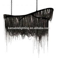 Luxury hotel project decorative black big chandelier