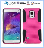 2in1 mesh silicone combo case For Samsung Galaxy Note 4