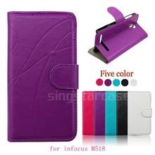 for infocus M518 case, leather folio cover case for infocus M518
