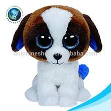 Real lifelike promotion cute plush big eyes animal toy stuffed soft plush dog toy