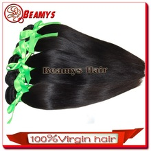 Wholesale price real virgin 16 inches straight indian remy hair extensions