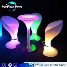 Remote control led bar furniture bar stool high chair