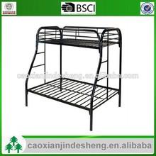 new design Bedroom kids Twin /Full 2 side ladder metal bunk bed - Black TF- 45