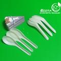 plástico biodegradável descartável chinês colheres de sopa