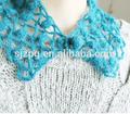 fonte da fábrica de rendas crochet da mão do colar para a mulher de meninas vestir roupas