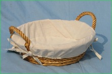 Wholesale Wicker Hamper Baskets With Lining For Christmas Gift