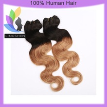 Ombre Hair Weave 100% Brazilian Human Hair Weave Ombre Weave Extension 100g/pc Two Tone Color