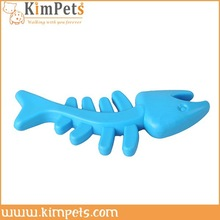 Cheap pet toy fishbone model pet silicone rubber cat toy