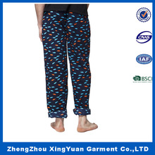 high quality leisure hot selling cotton sleep pants,Allover star printed poplin lounge pant