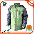 Hj08 7.4v climatizada verde de poliéster del oem para hombre deporte abrigo