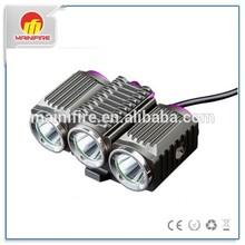 TrustFire TR-D012 1200 lumens 3 XM-L 2 rechargeable led bike light using 18650 4000mah li ion battery pack
