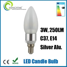 Energy saving e12/e14 base candle light 3w,4w,5w super bright best selling ,light e12 3w candle