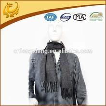 ODM custom real material men plain wool shawls grey