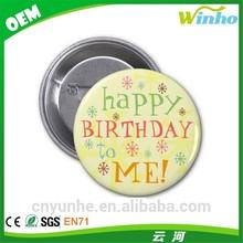 Winho happy birthday button badge for child