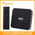 Android tv caixa 4.4 e google media player digital receptor de satélite na china