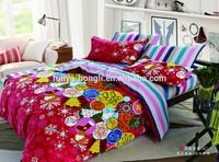 custom printed bed linen, nantong quilt set, housekeeping linen size
