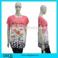 Fábrica de la alta calidad de la alta moda ropa de mujer ropa para, Suelta más el tamaño de la mujer T - camisa
