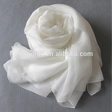 Custom Made Wholesale Plain White Silk Scarves