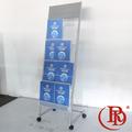 pine prateleira cartaz stands de exposição do carrinho da parede rack livro