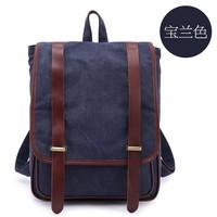 Unisex Genuine Leather Canvas Casual Backpack Camping Backpack Rucksack Backpack Bag School Bookbag Travel backpack