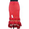 Vestido apertado mão Crochet saia longa