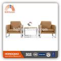 S-25 de lujo de cuero de color blanco de oficina sofá conjunto diseños