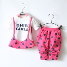 Children's clothing wholesale manufacturers, accusing the spring 2015 new wave point harness 1-3 years old baby girls long-sleev