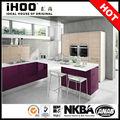 alibaba china direto da fábrica hotel restaurante de cozinha armários de cor roxa