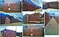 Cn tuiles. span décoratifs. inde. gazebo. panneau de toit ondulé de couleur