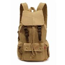 Factory best selling vintage canvas hiking backpack