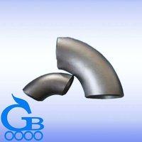90 degree long radius galvanized steel elbow
