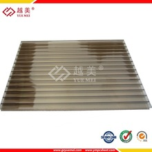 Brown twin-wall & trip -wall polycarbonate roofing hollow sheet