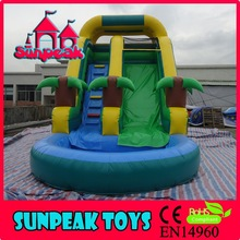 WL-1820 CE Residential Water Slide Inflatable Water Slide With Pool