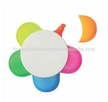 2015 Flower Shaped Popular 5 Colors Highlighter Pen