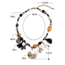 2015 unique design shell & pearl necklace