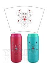 New products arrival !Double wall insulated plastic can shape mug water bottle for valentine's day gift