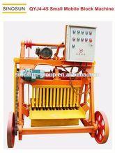 Small scale QYJ4-45 small mobile concrete block machine,coal ash brick making machine