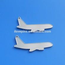 60x25mm airplane key tags silver blank custom