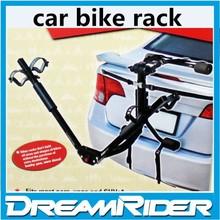 Car bike rack steel 3 bikes rear trunk mounted bicycle car carrier