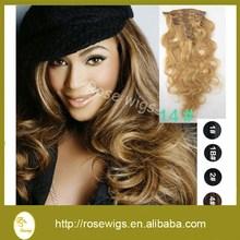 Aliexpress Good Quality Grade 6A Body Wave Human Hair Extension Malaysian Virgin Hair Clip in weave hair