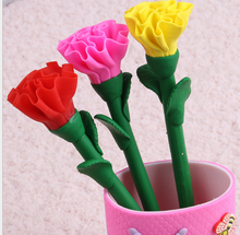 flower craft Rose head charm ball point pen