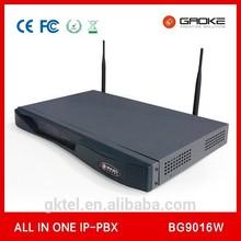 MINI PABX BG9016W Asterisk VoIP IP PBX SYSTEM 4/8 FXO ports, E1, Cheap Soho/SMB Solution