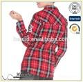 2014 venta al por mayor de la tela escocesa camisas para hombre