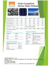 240-270 W multi-crystalline solar module