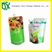 Beverage Industrial Use reusable food pouch with spout